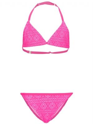 Bikini nitZolid neonrosa m spets