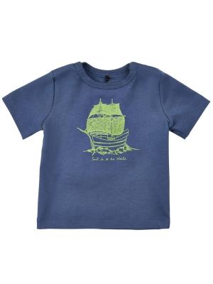 Me Too T-shirt Las287 EKO marinblå m båt