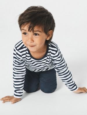 Pyjamas nmmNightset marinblå/randig noos