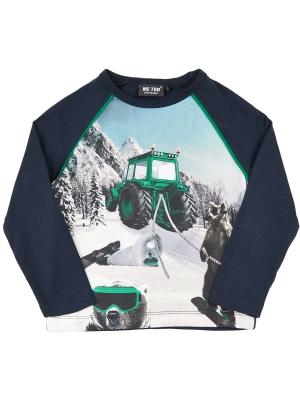 T-shirt LS Rolig Traktor Snowboard 80 cl