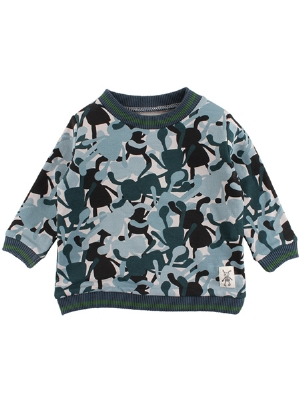 Small Rags Sweatshirt Camo OEKO-TEX