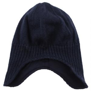 Mössa 100% Wool Går nedanför öron - Marinblå