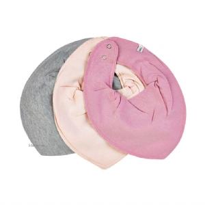 Pippi Bib / Dregglis 3-pack Rosa EKO