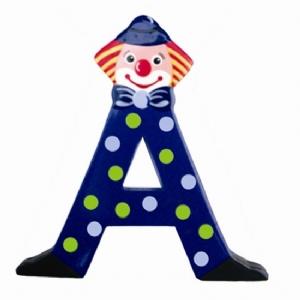 Clownbokstäver / Bokstäver i trä med Clown