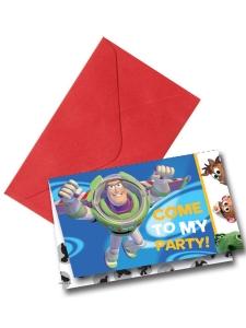 Inbjudningskort Toy Story 6-p