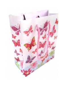 Presentpåse med fjärilar 15cm