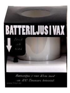 BlockLjus Batteridrivet