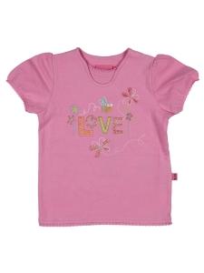 T-shirt Ola rosa m tryck och spets 80cl 9ea57524c0b83