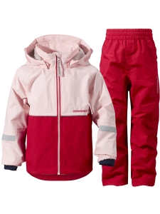 Didriksons Jacka/Byxa Kooruna set rosa/r