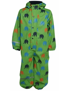 CeLaVi RegnOverall grön m elefanter 70 cl