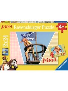 Pussel Pippi Långstrump 2*24bitar