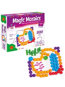 Magic Mosaik / 2 st Stiftplattor med 300 stift