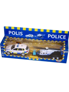 Polisbil & Polishelikopter