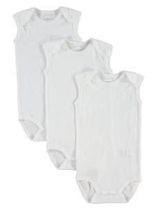 3-pack Body nitBody vit utan ärm noos
