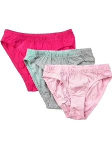 3-pack Underbyxa Basic59 rosa/cerise/grå