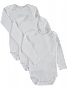 3-pack Body nitBody vit långärm noos