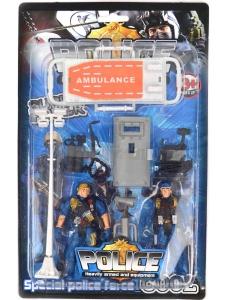 Polisset med figurer och tillbehör