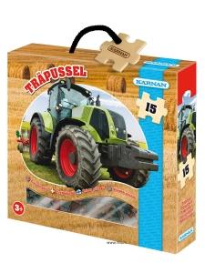 TräPussel 15 bitar - Traktor