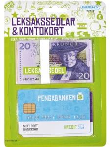 Leksakspengar / Leksakssedlar och Kontokort