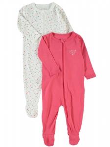 HelPyjamas 2-pack nitNightsuit m hjärtan