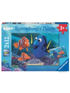 Pussel 12 bitar x 2 - Finding Dory