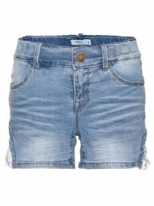 JeansShorts nitBatira ljusdenim med spets