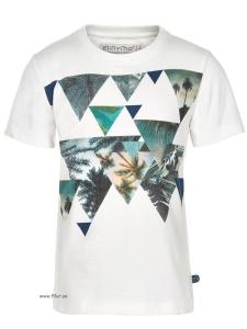 Minymo T-shirt Kirk77 vit m fotoprint
