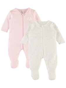 HelPyjamas 2-pack nbfNightsuit rosa vit a8f03410b1d18