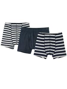 Boxerkalsong 3-pack marinblå/randig