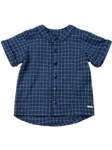 FarfarsSkjorta Marinblå/Vit Rutig