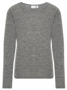 NKMWANG WOOL NEEDLE LS TOP GRÅ