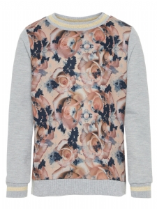 NKFOLIV SWEATSHIRT FLOWER