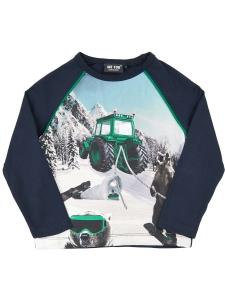 T-shirt LS Rolig Traktor Snowboard