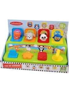 Babyleksak Pop-Up Leksak med djur