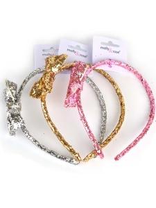 Glitter Diadem Guld/Silver/Rosa
