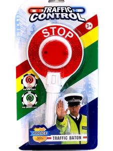 Stop Skylt Polis med ljus