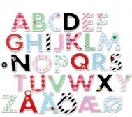 Bokstäver i trä med stickers / Träbokstäver med st...