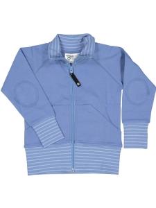 Geggamoja Zipsweater Blå GOTS