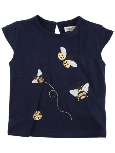 Small Rags T-Shirt Marinblå Nyckelpiga GOTS