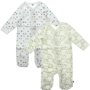 Pippi Pyjamas med fot 2-pack - Unisex