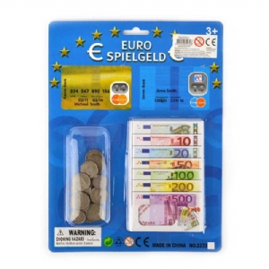 Leksakspengar Eurosedlar och Euromynt
