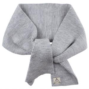 Stickad Halsduk 100% Wool - Grå