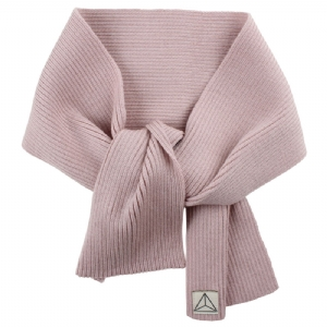 Stickad Halsduk 100% Wool - Rosa